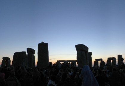 Summer solstice party at Stonehenge